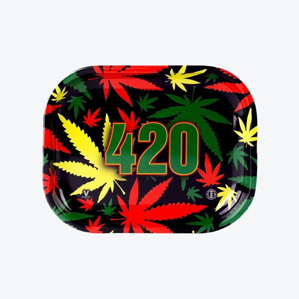V Syndicate 420 Rasta Metal Rolling Tray