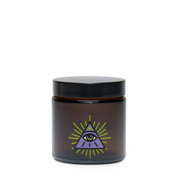 420Science Amber Screw Top Jar - All Seeing Eye