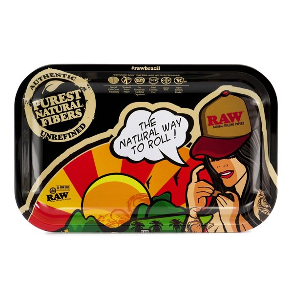 RAW Rolling Tray Metal - Brazil