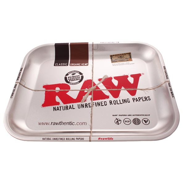 RAW Rolling Tray Metal - Silver