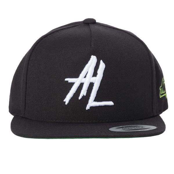 Alien Labs 5 Panel Embroidered Snapback - Black & White