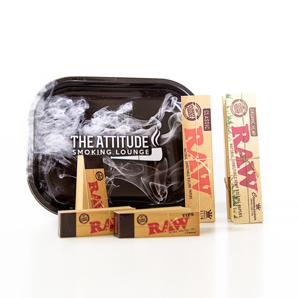 RAW  Rolling Papers & ASL Tray Gift Set