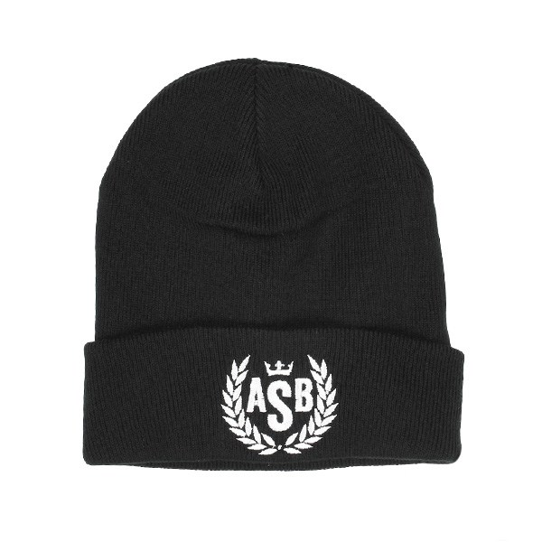 The Attitude ASB Crown Embroidery Cuff Beanie - Black