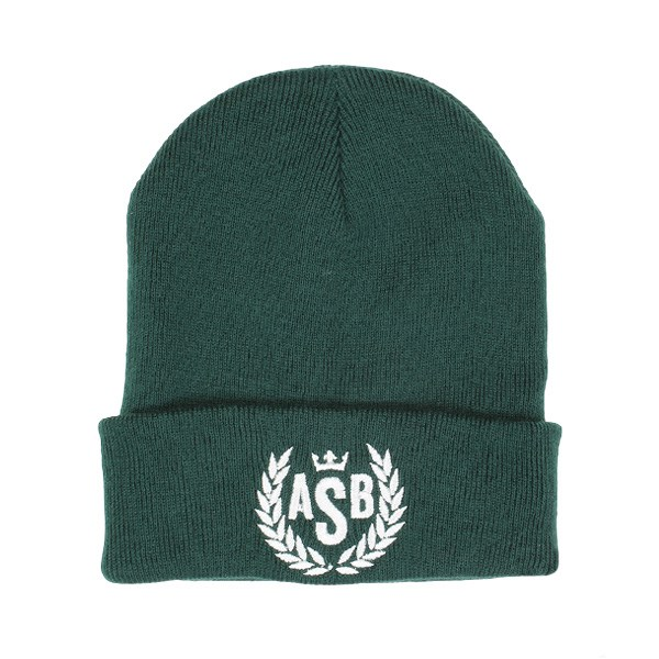 The Attitude ASB Crown Embroidery Cuff Beanie - Bottle Green