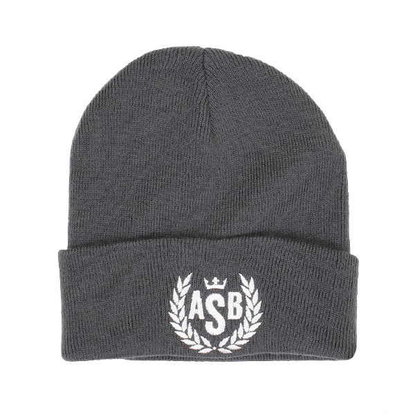 The Attitude ASB Crown Embroidery Cuff Beanie - Graphite Grey