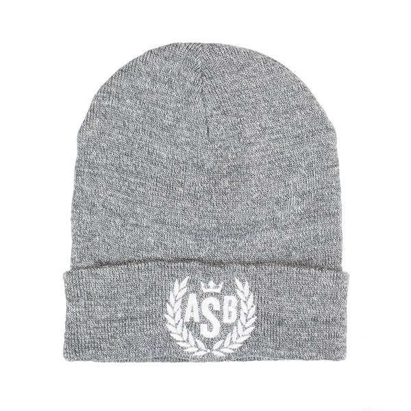 The Attitude ASB Crown Embroidery Cuff Beanie - Heather Grey