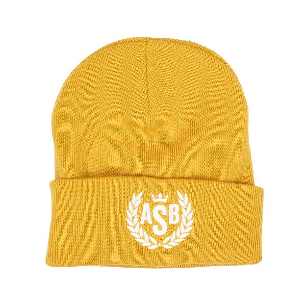 The Attitude ASB Crown Embroidery Cuff Beanie - Mustard