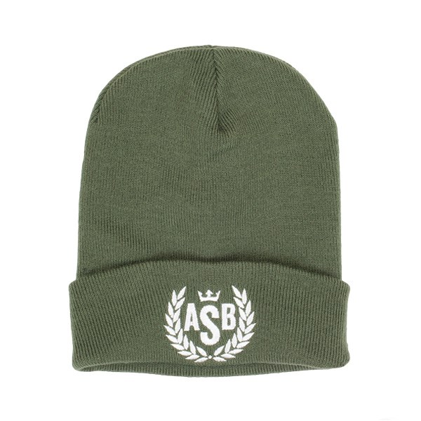 The Attitude ASB Crown Embroidery Cuff Beanie - Olive