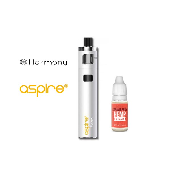 Aspire E-cigs  CBD Vape and Harmony E-liquid Starter Gift Set