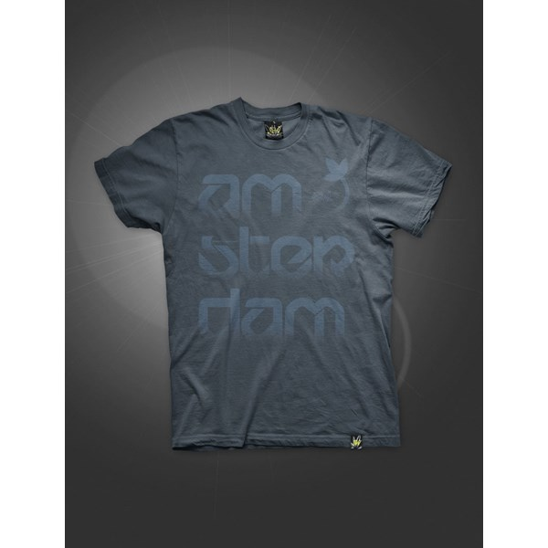 Green House Clothing Ams-Ter-Dam T-Shirt Washed Blue Navy (ATS019)