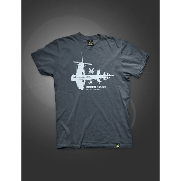 Green House Clothing Dutch Mulini T-Shirt Washed Blue Navy (ATS023)