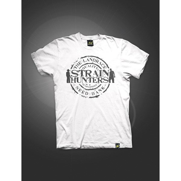 Green House Clothing Strain Hunters T-Shirt White (ATS029)