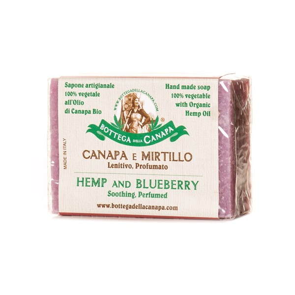 Bottega Della Canapa Hemp Soap with Blueberries