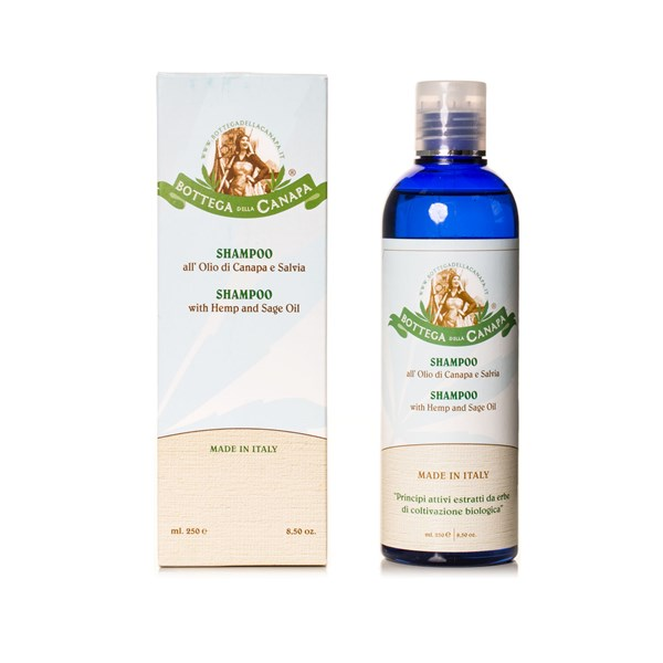 Bottega Della Canapa Shampoo with Hemp and Sage Oils