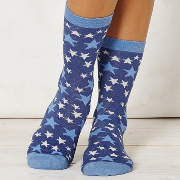 Thought Clothing Ladies Stella Allure Blue Bamboo Socks