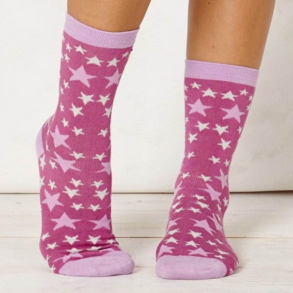 Thought Clothing Ladies Stella Rasberry Bamboo Socks