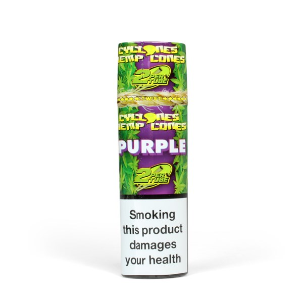 Cyclones Cones Hemp Pre-Rolled Cones with Tips - Grape (Purple)