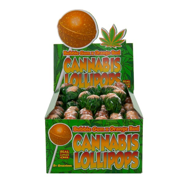 Dr. Greenlove Amsterdam Cannabis Lollipops - Bubblegum x Orange Bud
