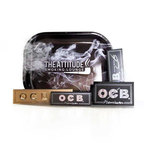 OCB  Rolling Papers & ASL Tray Gift Set