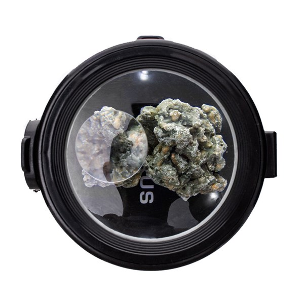 Smokus Focus Eclipse Magnifying Glass Illuminated Storage Jar Container - Black