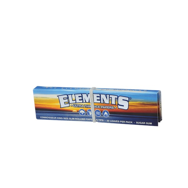 Elements Connoisseur Kingsize Slim Rice Papers & Tips