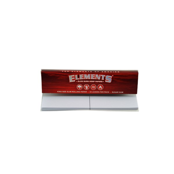 Elements Connoisseuer Kingsize Slim Hemp Red Papers & Tips