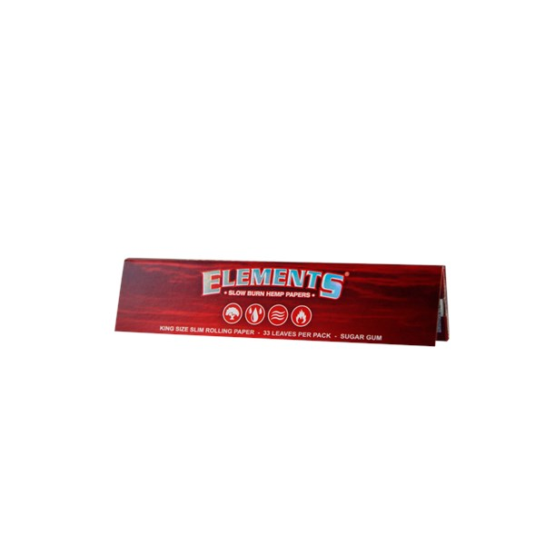 Elements Kingsize Slim Hemp Red Papers