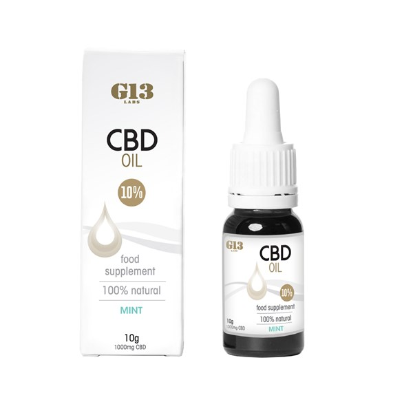 G13 Labs 10% CBD Oil - Mint Flavour