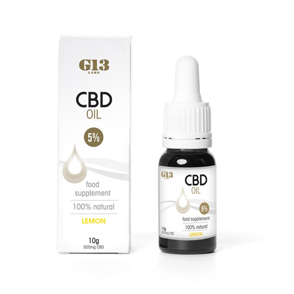 G13 Labs 5% CBD Oil - Lemon Flavour
