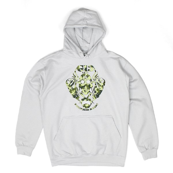 G13 Labs Camo Logo Hoody Light Grey