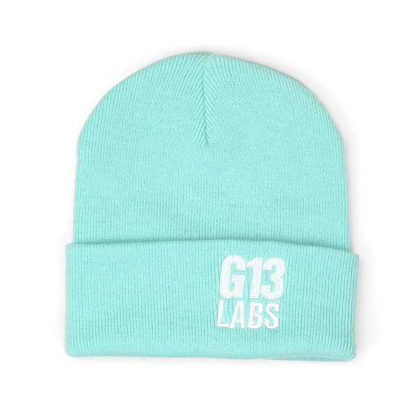 G13 Labs Side Trademark Embroidery Cuff Beanie Mint Green