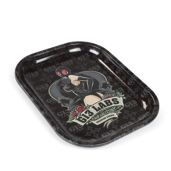 G13 Labs Gas Mask Lady Rolling Tray