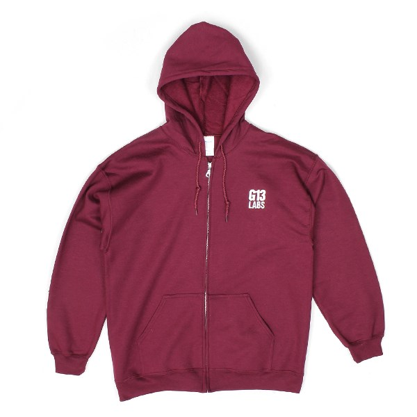 G13 Labs Embroidered Trademark Zip Hoody Burgundy