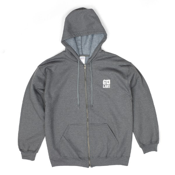 G13 Labs Embroidered Trademark Zip Hoody Charcoal