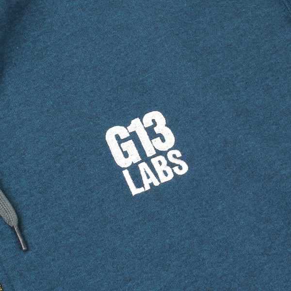 G13 Labs Embroidered Trademark Zip Hoody Blue