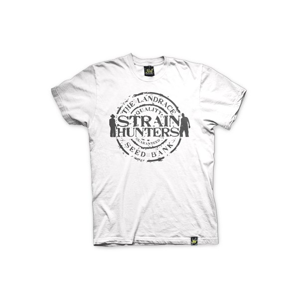 Green House Clothing T-Shirt - Strain Hunters White (ATS029)