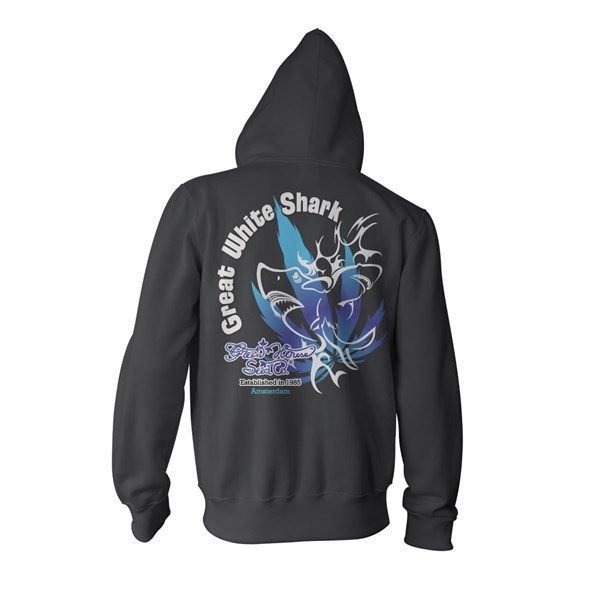 Green House Clothing Zip Hoody - Great White Shark Black (CMHZ002)