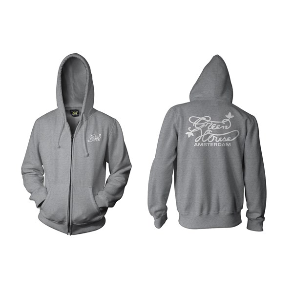 Green House Clothing Zip Hoody - Green House Logo Grey (CMHZ005)