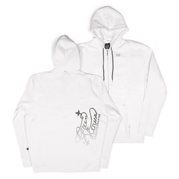 Green House Clothing Zip Hoody - Green House Logo White (CMHZ009)