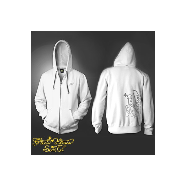 Green House Clothing Logo Zip Hoody White (CMHZ009)