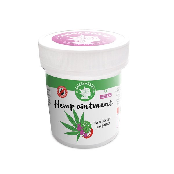 Cannadorra Hemp Ointment with chilli for muscles and joints, 100ml