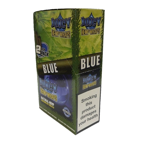 Juicy Jay's  Hemp Wraps - Blue