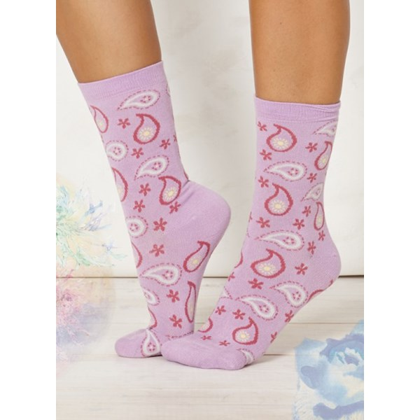 Thought Clothing Ladies Caro Lilac Bamboo Socks