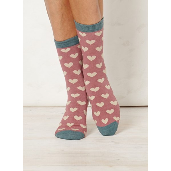 Thought Clothing Ladies Lover Blush Bamboo Socks