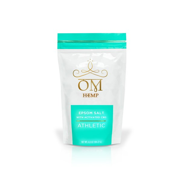 OM Wellness Epsom Salt with activated CBD - Athletic