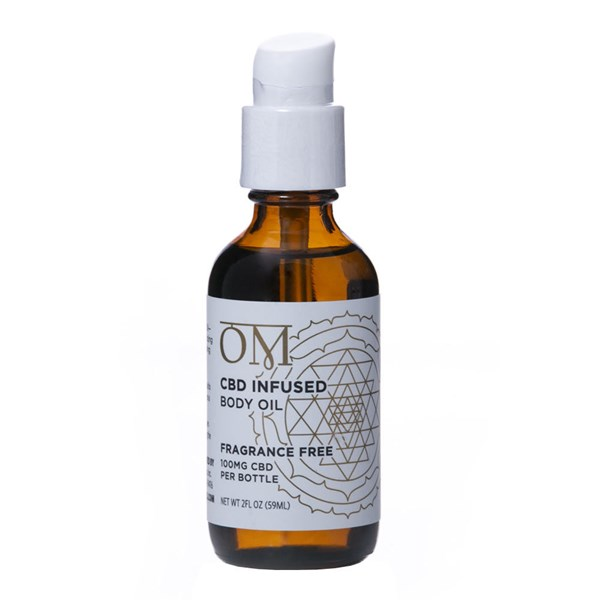 OM Wellness 100mg CBD Body Oil - Fragrance Free