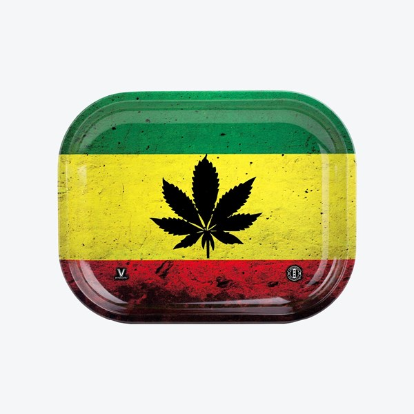 V Syndicate Rasta Leaf Metal Rolling Tray