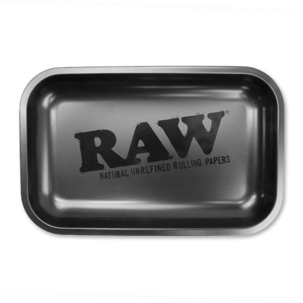 RAW Rolling Tray Metal - Matte Black