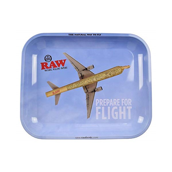 RAW Rolling Tray Metal - Prepare for Flight