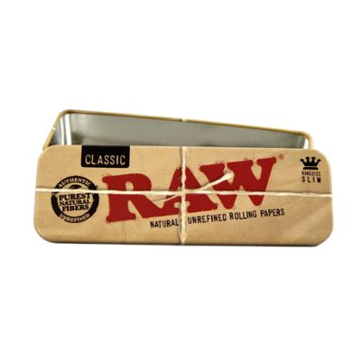 RAW Classic Metal Roll Caddy Tin